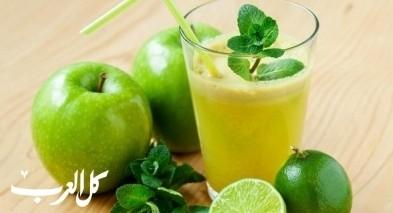 حضّري عصير التفاح الأخضر اللذيذ