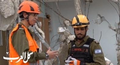 الجيش الاسرائيلي ينهي تدريب اغاثة وانقاذ