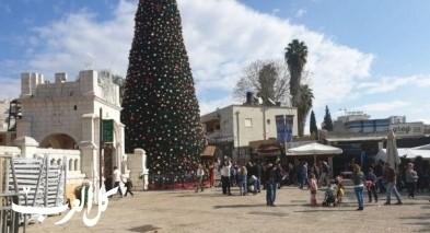 الناصرة: تقديم ساعة إضاءة شجرة عيد الميلاد
