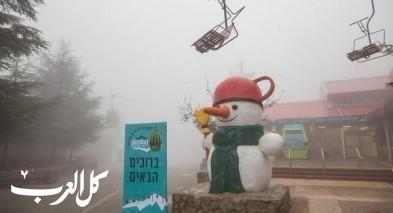 بالفيديو: جبل الشيخ يتزيّن بالثلوج