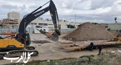 بلدية عكا تباشر ببناء قاعة رياضية للمدارس العربية
