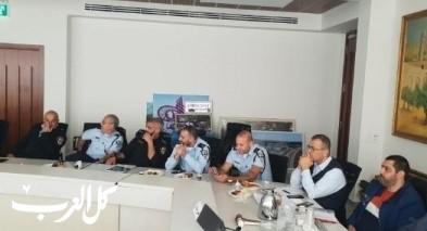 لجنة التوجيه لقسم تطبيق القانون تجتمع ببلدية الناصرة