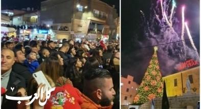 شفاعمرو: مشاركة واسعة في حفل إضاءة شجرة عيد الميلاد