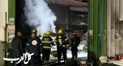 جلجولية: اندلاع حريق هائل بكراج دون اصابات
