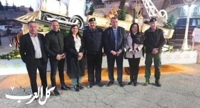 الشرطة الفلسطينية تؤمن قافلة الميلاد