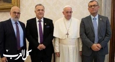 علي سلام يلتقي قداسة البابا فرنسيس في حاضرة الفاتيكان