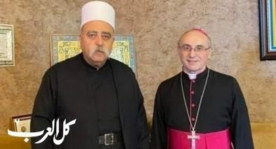 القاصد الرسولي يحلّ ضيفًا على الشيخ طريف