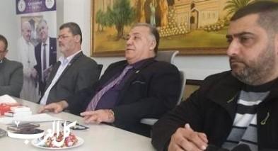 إنتهاء المؤتمر الصحفي في بلدية الناصرة