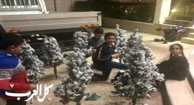 """جديدة المكر: """"هِمَم"""" تنصب أشجار الميلاد"""