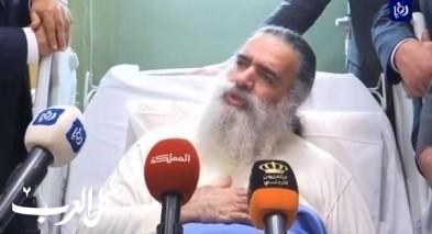 المطران عطالله حنا يصل الأردن للعلاج بعد تعرضه للتسمم