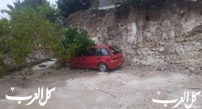 عارة: انهيار شجرة كبيرة على سيارة
