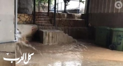 نحف: مياه الامطار تحاصر منزل ابو النور مطر