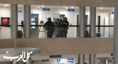 حيفا: اندلاع حريق بمبنى التأمين الوطني
