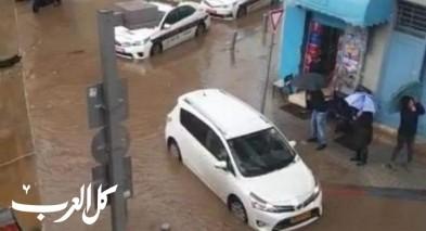 مياه الأمطار تغرق شوارع تل أبيب ويافا
