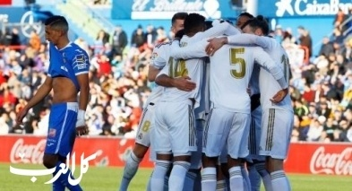 ريال مدريد يرتقي لصدارة الليجا مؤقتا بالفوز على خيتافي