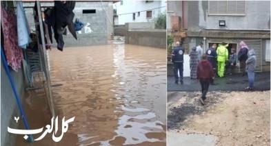 مياه الأمطار تغرق عدّة منازل في شفاعمرو