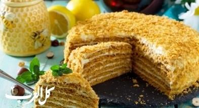 طريقة تحضير كعكة العسل اللذيذة