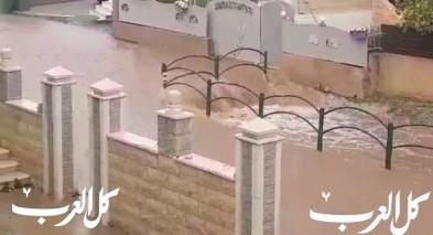 مياه الأمطار تغرق احياء في كابول وصعوبة في التنقل