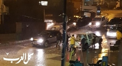 غرق الشوارع في بلدة عيلوط بسبب الامطار