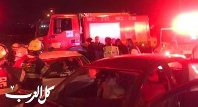 اصابات بحادث طرق بين الناصرة والعفولة