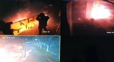 فيديو: ملثمون يحرقون لافتة لمكابي أبناء الرينة