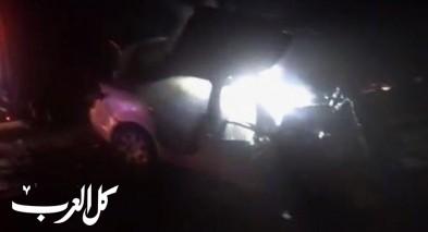 مصرع شاب بحادث طرق بين شاحنة وسيارة على شارع 90