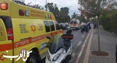 المركز: اصابة شاب اثر انزلاق دراجة نارية