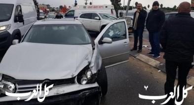 حادث طرق في الطيبة يسفر عن اصابات طفيفة