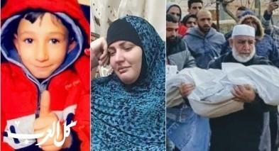 وصول جثمان الطفل قيس أبو رميلة الى بيته