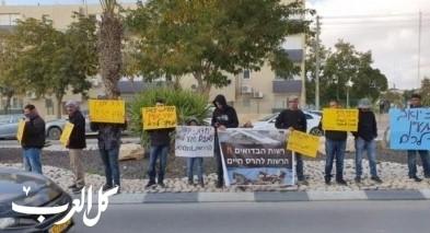 سكان بئر هدّاج بوقفة أمام شرطة ديمونا