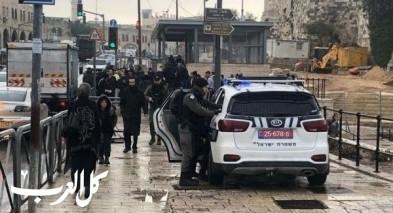 القدس: إعتقال عدة شبان في منطقة باب العمود