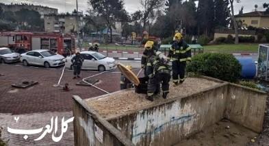 الطواقم تعمل على وقف تسرب مواد خطيرة قرب الناصرة