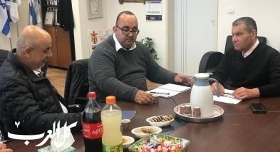 بستان المرج : رئيس المجلس يستقبل مدير التعليم العربي