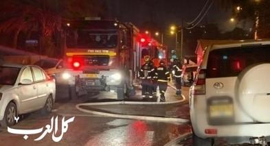بئر المكسور: إصابة إثر حريق بمنزل