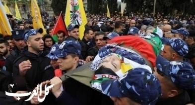 تشييع جثمان الشهيد الرقيب أول الفلسطيني طارق بدوان