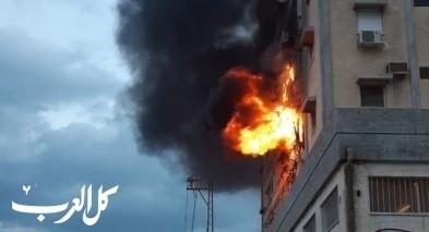 رمانة: اصابة شخص اثر استنشاقه دخان حريق