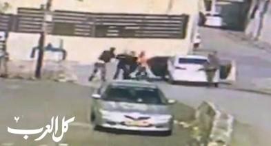 فيديو-اعتداء على شاب من طرعان بواسطة قضيب حديدي وغاز
