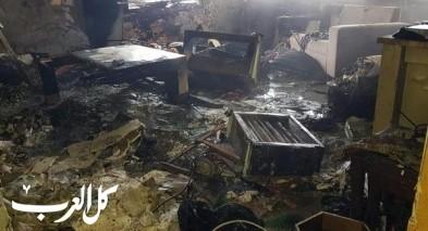 إندلاع النيران بشقة سكنية في البقيعة