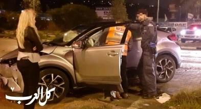 اصابة 3 اشخاص بحادث طرق قرب معليا