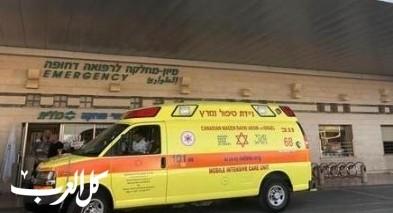اصابة امرأة (40 عامًا) اثر انقلاب سيارة قرب ناطور
