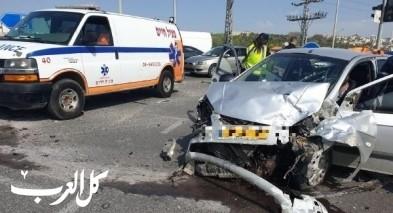 وادي عارة: حادث على مفرق برطعة يسفر عن 4 إصابات