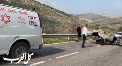 إصابة شاب بجراح خطيرة اثر انقلاب سيارة بمنطقة الضفة