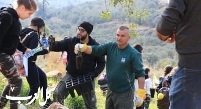 حوض البطوف: فعالية غرس الاشجار في تل مرسان