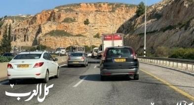 أزمة سير خانقة على طريق نفق الناصرة- اكسال