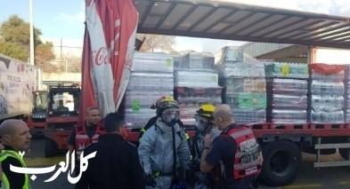 تسرب مادة الأمونيا في مصنع كوكا كولا في حيفا