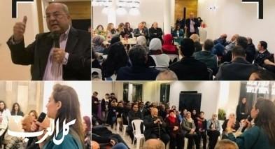 اجتماعات شعبية حاشدة في المدن والبلدات العربية