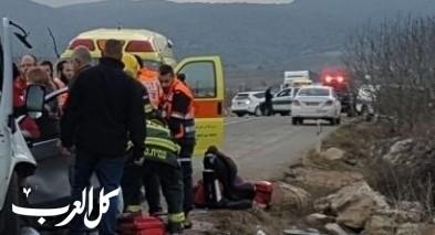 اصابة شخص بحادث طرق مروّع قرب الجش
