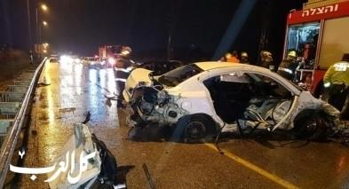 5 اصابات بحادث طرق قرب مفرق كابري