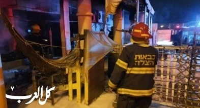 اندلاع حريق كبير بمخبز في نهاريا