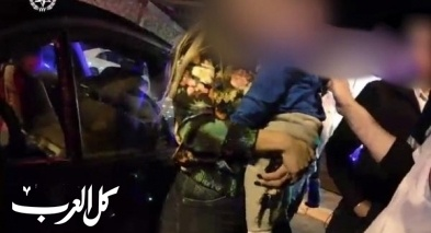 إنقاذ طفل بعد أن علق داخل سيارة في طمرة